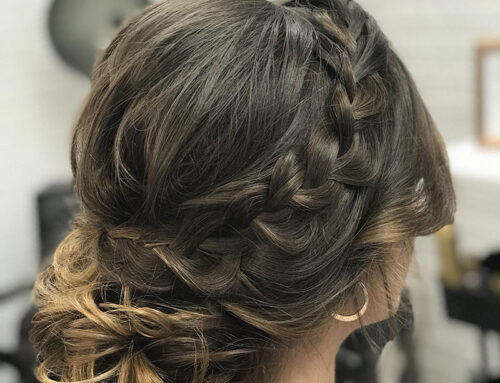 Ombre Hair Curls Braid